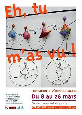 Photo : La Rochelle - exposition : Véronique Maxin à l'Atelier Bletterie jusqu'au 26 mars 2011