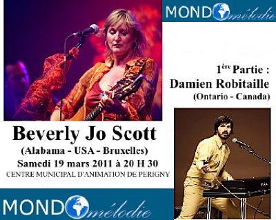 Photo : La Rochelle - Périgny : Beverly Jo Scott - Damien Robitaille en concert, samedi 19 mars 2011