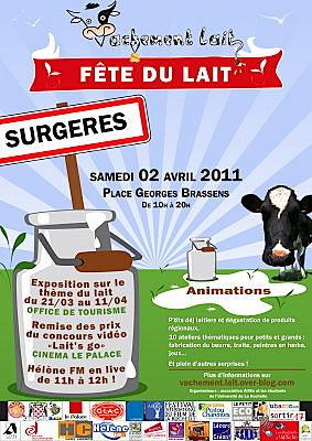 Photo : Surgères - Charente-Maritime : 1ère fête Vachement Lait, samedi 2 avril 2011 de 10h à 21h