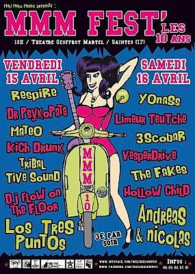 Photo : Concerts à Saintes : MMM fest, vendredi 15 et samedi 16 avril 2011