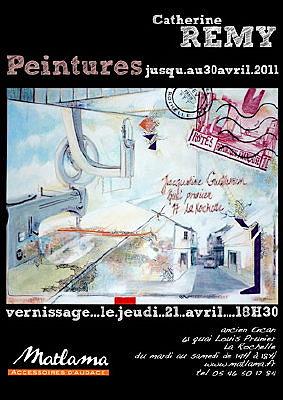 Photo : La Rochelle - exposition : Catherine Rémy à l'Atelier Bletterie jusqu'au 26 mars 2011