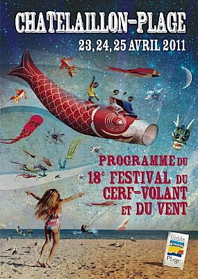 Photo : La Rochelle sud : 18e festival du cerf-volant à Châtelaillon-Plage du 23 au 25 avril 2011