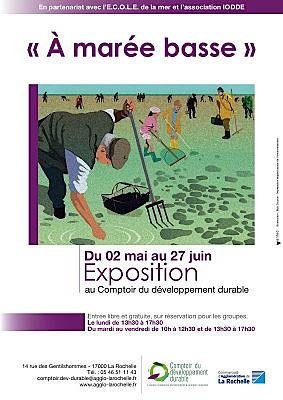 Photo : La Rochelle : À marée basse, exposition au Comptoir du développement durable, mai-juin 2011