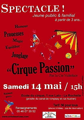 Photo : La Rochelle : Cirque Passion, samedi 14 mai 2011 à 15h