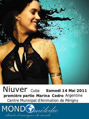 Photo : La Rochelle Périgny : Niuver - Cuba et Marina Cedro - Argentine en concert, samedi 14 mai 2011