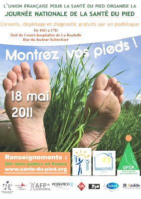 Photo : La Rochelle : Journée nationale de la santé du pied, mercredi 18 mai 2011