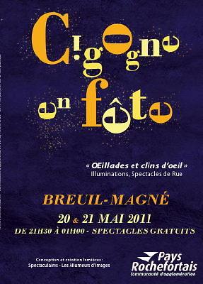 Photo : Pays Rochefortais : Cigogne en fête, soirées artistiques à Breuil-Magné, 20 et 21 mai 2011