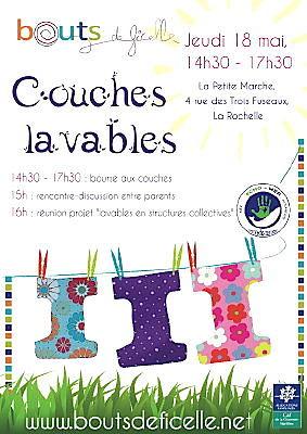 Photo : La Rochelle : couches lavables, infos et échanges, mercredi 18 mai 2011 à 14h30