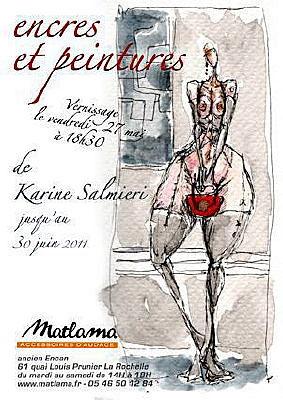 Photo : La Rochelle exposition Karine Salmieri chez Matlama jusqu'au 30 juin 2011