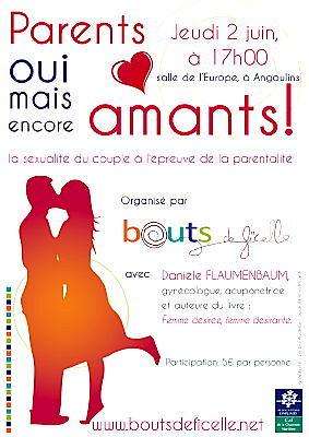 Photo : La Rochelle - Angoulins : Parents et encore amants, conférence, jeudi 2 juin 2011 à 17h