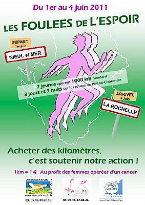 Photo : Charente-Maririme : les Foulées de l'Espoir du 1er au 4 juin 2011