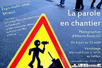 Photo : La Rochelle - exposition : la parole en chantier à Mireuil du 6 juin au 22 août 2011