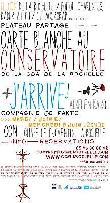 Photo : Danse à La Rochelle : plateau partagé au centre chorégraphique national les 7 et 8 juin 2011