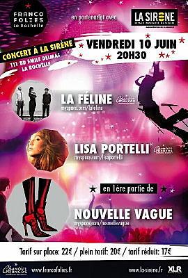 Photo : La Rochelle : les Francos et La Sirène, Nouvelle Vague en concert, vendredi 10 juin 2011