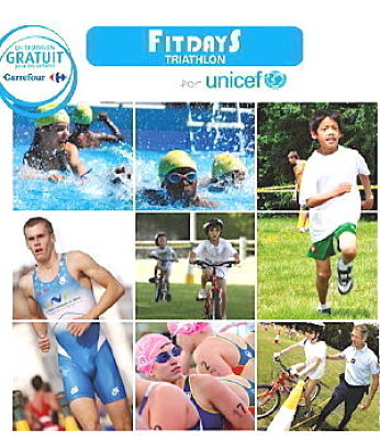Photo : La Rochelle : triathlon, sport, droits de l'enfant au village Fitdays de l'UNICEF, sam. 25 juin 2011
