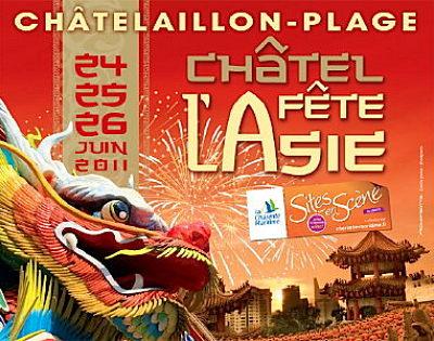 Photo : Charente-Maritime - Châtelaillon-Plage : Châtel fête l'Asie du vend. 24 au dim. 26 juin 2011