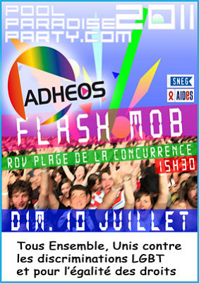 Photo : La Rochelle : flashmob Pool Party - Adhéos contre l'homophobie, dimanche 10 juillet 2011 à 15h30