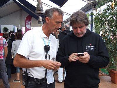 Photo : Les boss : Gérard Pont et Frédéric Charpail