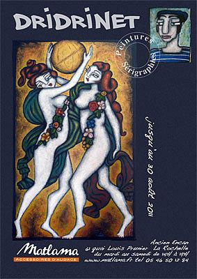 Photo : La Rochelle - exposition : Dridinet chez Matlama jusqu'au 30 août 2011