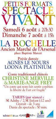 Photo : Danse et conte : spectacles à La Rochelle sam. 6 et dim. 7 août 2011