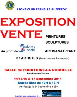 Photo : La Rochelle : une expo-vente pour combattre les cancers des enfants du 14 au 17 sept. 2011
