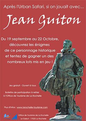 Photo : OT La Rochelle : jeu urbain autour de Jean Guiton jusqu'au 22 octobre 2011