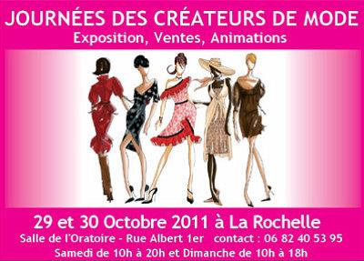 Photo : La Rochelle : journées des créateurs de mode, sam. 29 et dimanche 30 octobre 2011