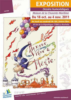 Photo : La Rochelle exposition : humour et vigne à la Maison de la Charente-Maritime jusqu'au 4 nov. 2011