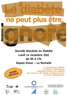 Photo : La Rochelle santé : La Rochelle : Journée mondiale du diabète,  lundi 14 novembre 2011 à l'Encan