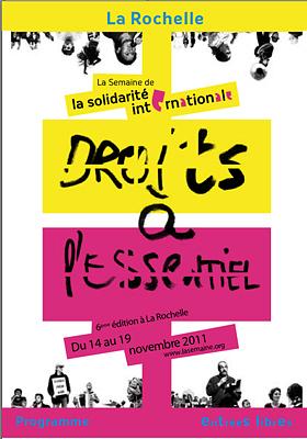 Photo : La Rochelle : Semaine de la solidarité internationale jusqu'au samedi 19 novembre 2011