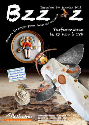 Photo : La Rochelle exposition : BZZZ, 4 artistes chez Matlama jusqu'au 14 janvier 2012
