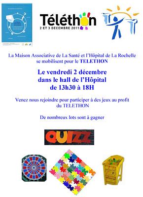 Photo : La Rochelle : rendez-vous Telethon 2011 à l'Hôpital, vendredi 2 décembre