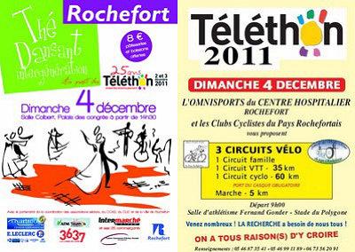 Photo : Charente-Maritime : Rochefort se mobilise pour le Téléthon, samedi 3 et dimanche 4 décembre 2011 !