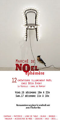 Photo : La Rochelle : Noël éphémère artistes - créateurs, vendredi 16 et samedi 17 décembre 2011