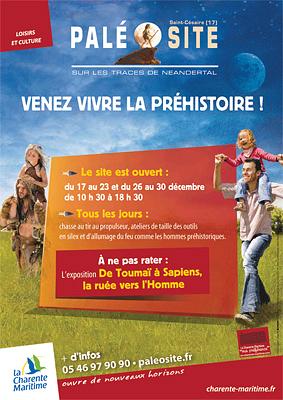 Photo : Charente-Maritime - Préhistoire : vacances de Noël 2011 au Paléosite de Saint-Césaire