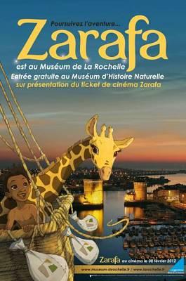 Photo : La girafe Zarafa fait son cinéma à La Rochelle, demandez le programme de janvier à mars 2012 !