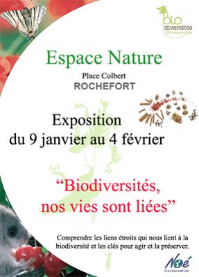 Photo : Rochefort - exposition : Biodiversités, nos vies sont liées, jusqu'au 3 février 2012