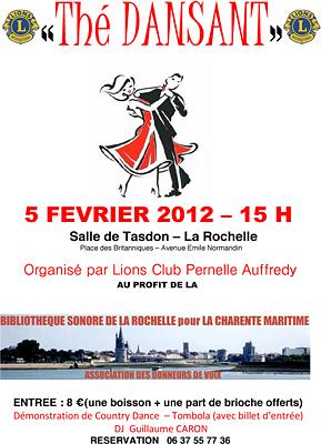 Photo : La Rochelle : thé dansant au profit de la bibliothèque sonore, dimanche 5 février 2012