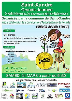 Photo : Yélo - Agglo La  Rochelle : journée de la mobilité électrique à Saint-Xandre, samedi 24 mars 2012