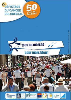 Photo : La Rochelle - prévention cancer : marche bleue, dimanche 25 mars 2012 à 9h