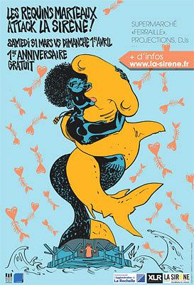 Photo : La Rochelle : La Sirène - 1er anniversaire avec les Requins Marteaux, 31 mars - 1er avril 2012