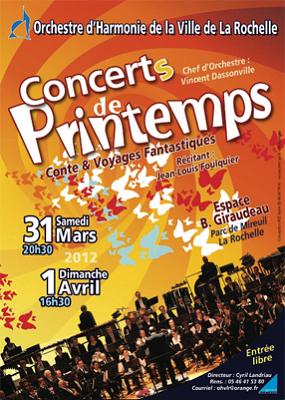 Photo : Orchestre d'harmonie Ville de La Rochelle : concerts de printemps les 31 mars et 1er avril 2012
