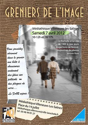 Photo : La Rochelle - Villeneuve : les greniers de l'image du FAR, samedi 7 avril 2012