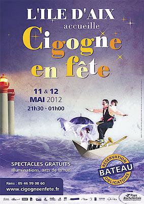 Photo : Pays Rochefortais : Cigogne en fête, soirées artistiques - l'île d'Aix, vend. 11 et sam. 12 mai 2012