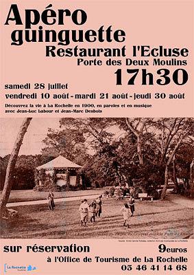 Photo : La Rochelle en 1900 : paroles et musique, apéro-guinguette 28 juillet, 10, 21 et 30 août 2012