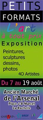 Photo : La Rochelle exposition : Petits Formats à l'Arsenal du 7 au 19 août 2012