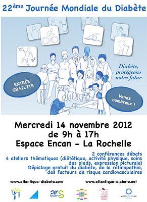 Photo : La Rochelle santé : Journée mondiale du diabète, mercredi 14 novembre 2012 - Espace Encan