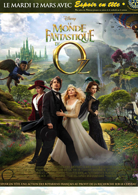 Photo : Charente-Maritime : Le Monde Fantastique d'Oz au cinéma pour Espoir en Tête, mardi 12 mars 2013