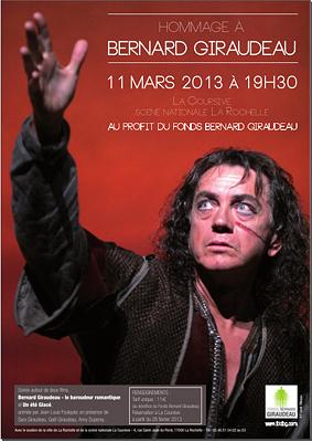 Photo : La Rochelle : hommage à Bernard Giraudeau au bénéfice des malades du cancer, lundi 11 mars 2013