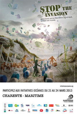 Photo : Plages de Charente-Maritime : initiatives océances avec la Surfrider Fondation 21-24 mars 2013